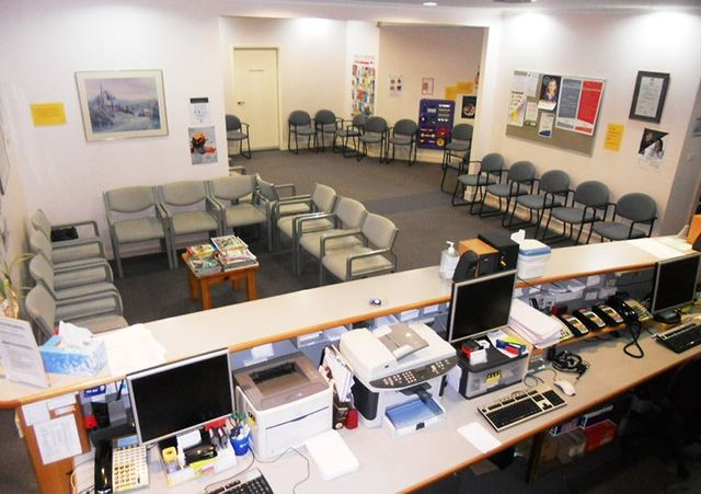 clean medical practice waiting room
