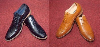 black and brown shoes