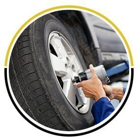Tyre fitting work