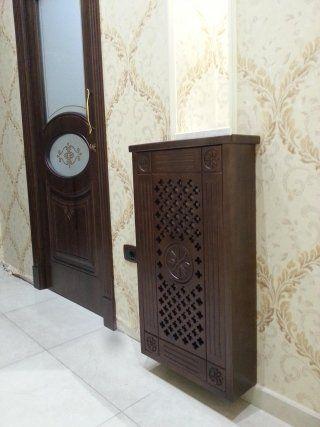 porte in legno scorrevole con inserti in vetro