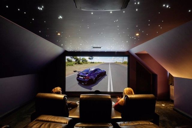 Computer game on a home cinema