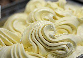 yellow coloured icecream