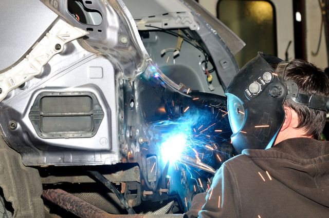 Repairing car in progress in Chesaning, MI