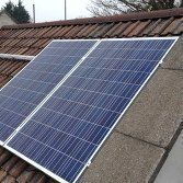 Photovoltaic panels fitted