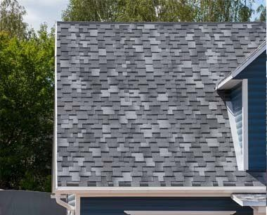 The Roof With Bitumen Shingles — Roofing in Brentwood, CA