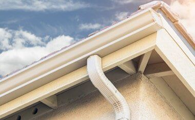 White Gutter — Roofing in Brentwood, CA