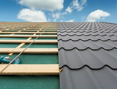 Roof With Metal Tile — Roofing in Brentwood, CA