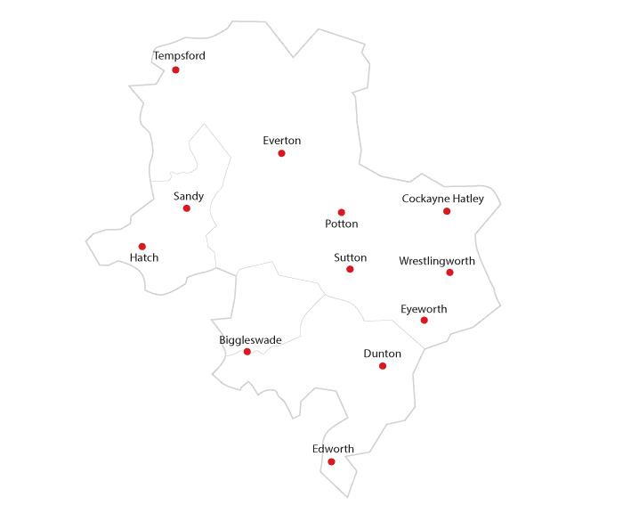 The Comet Biggleswade Routes to market map