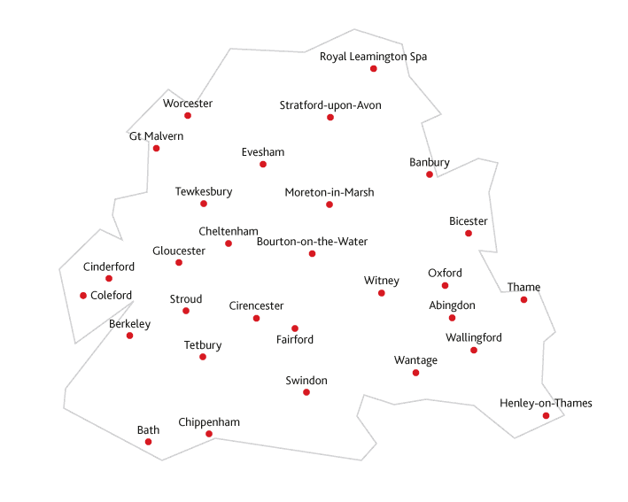 Cotswold Life Routes to market map