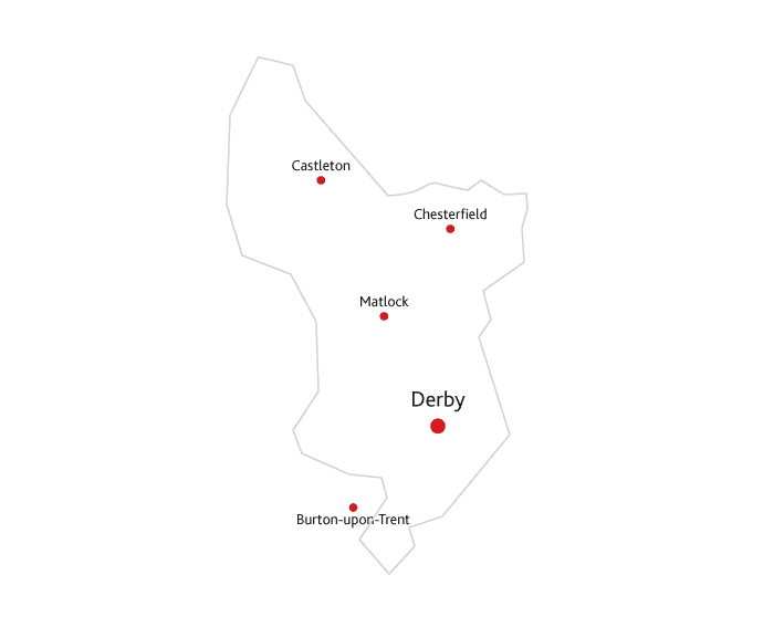 Derbyshire Life Routes to market map
