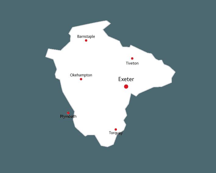 Devon Life Routes to market map