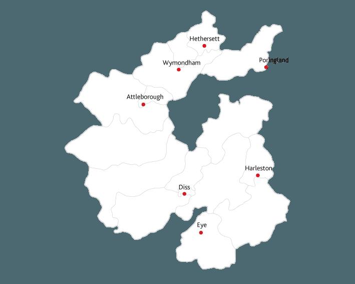 Diss Mercury Routes to Market Map