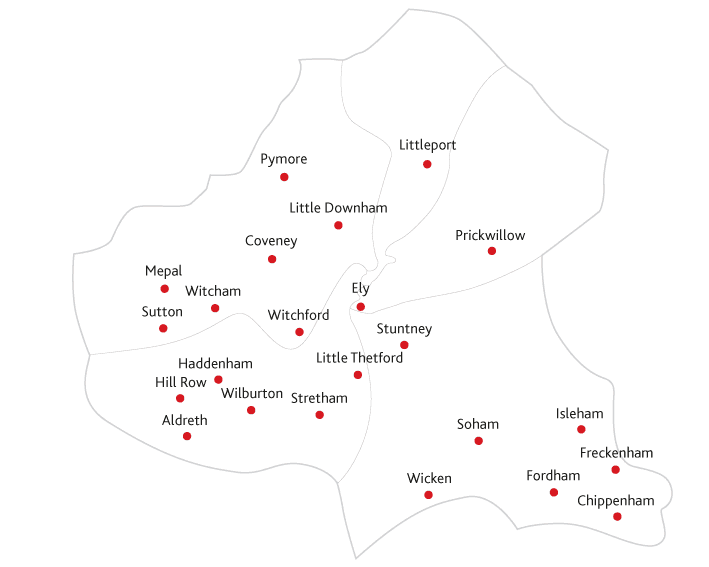 Ely Standard Routes to market map
