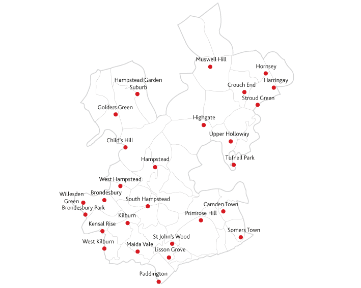 Ham and High Express Routes to market maps