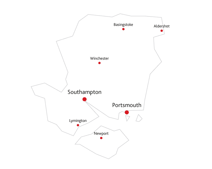 Hampshire Life Routes to market map