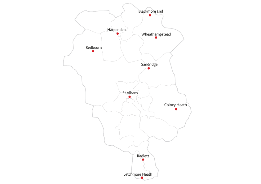 Herts Advertiser Routes to market map