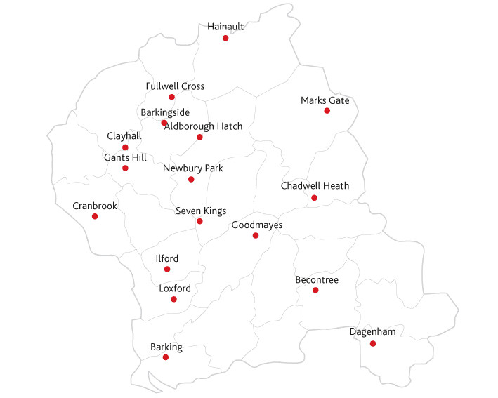 Ilford Recorder Routes to market map