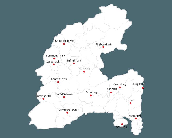 Islington Gazette routes to market map