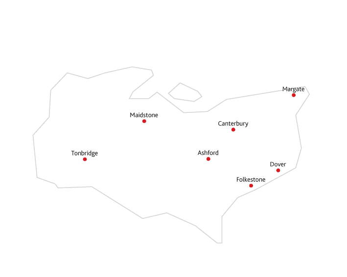 Kent Life Routes to market map