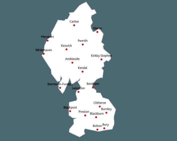 Lancashire Life Routes to market map