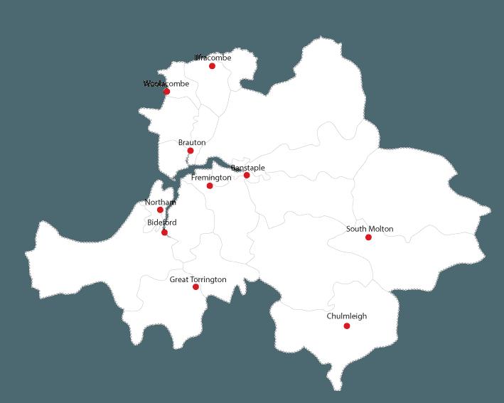 North Devon Gazette routes to market maps