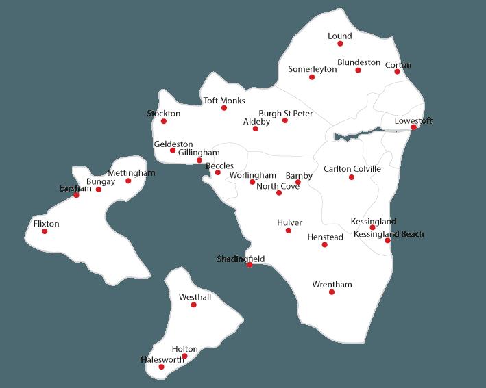 Waveney Advertiser Routes to Market Map