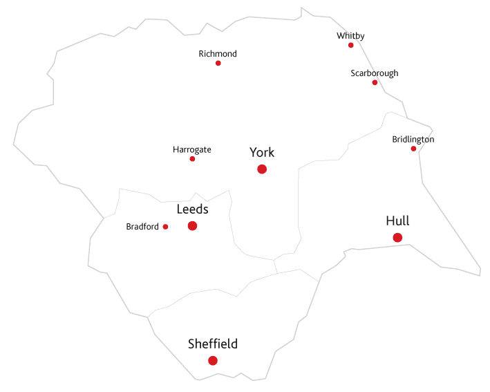 Yorkshire Life Routes to market map