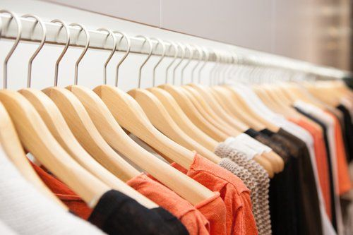 wide range of women clothes on a rack