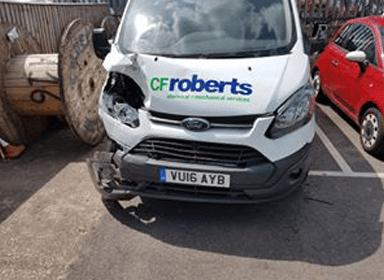 Before van body repairs