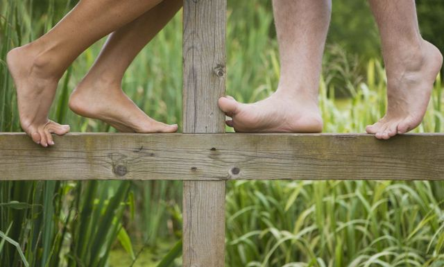 Bare feet on a Hawkes Bay farm after fence construction