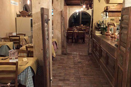 sala della pizzeria