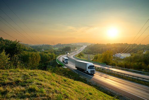 camion in viaggio