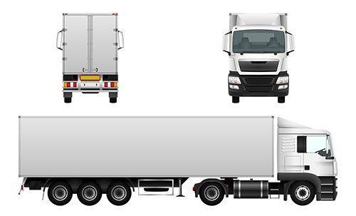 tre camion raffigurati
