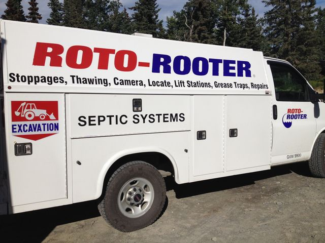 One of our plumbing services trucks serving in Soldotna, AK