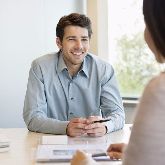 man consulting