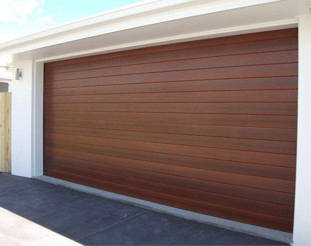 South Queensland Custom Garage Doors, Western Red Cedar Garage Door