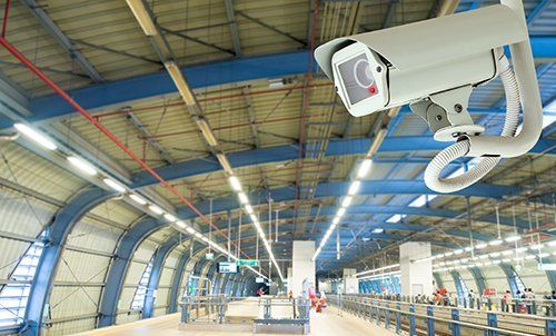 View of an installed CCTV camera