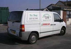 Greenfield Kennels, Cattery & Pet Shop service vehicle