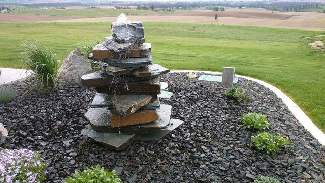 Handmade Waterfall - Landscape Waterfalls in Spokane Valley, WA - Nursery Services - Spokane Valley, WA - Gibson's Nursery & Landscape
