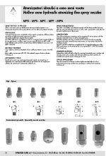 caratteristiche tecniche atomizzatori, atomizzatori idraulici, cono semi vuoto