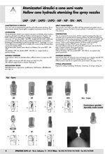scheda tecnica atomizzatori, caratteristiche atomizzatori, atomizzatori a cono vuoto