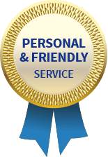 PERSONAL & FRIENDLY SERVICE