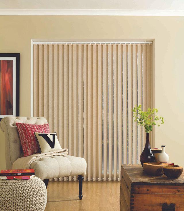 Cream, vertical blinds