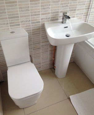 modern basin and toilet