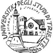 logo con delle costruzione e un campanile con scritto Università degli studi di Trieste