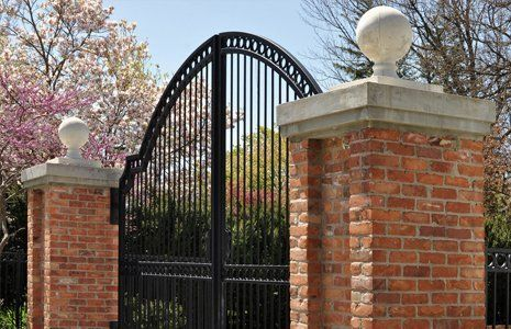 stylish metal gate