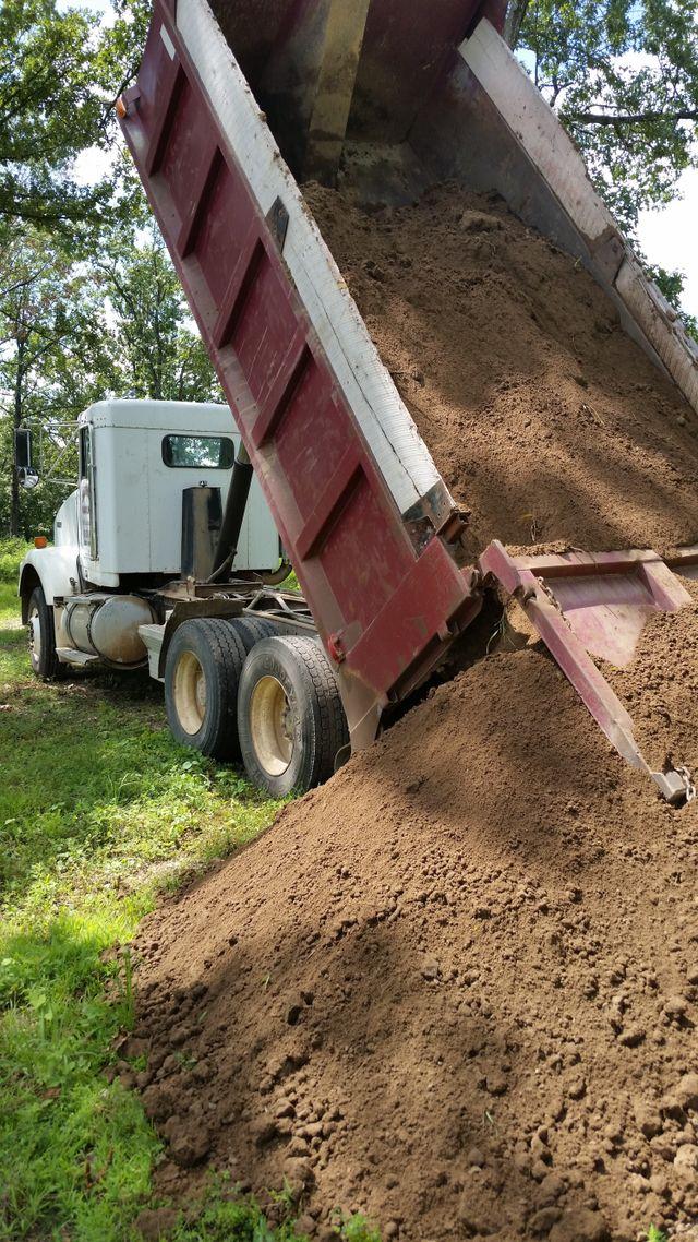 Bulldozer attain to level soil at construction site