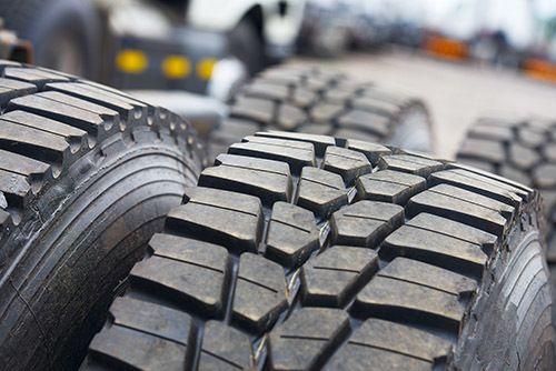 truck wheels, performance tyres at close range