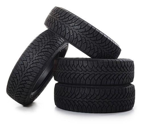 The automobile tires Firestone, Bridgestone, Hankook and Maxxis