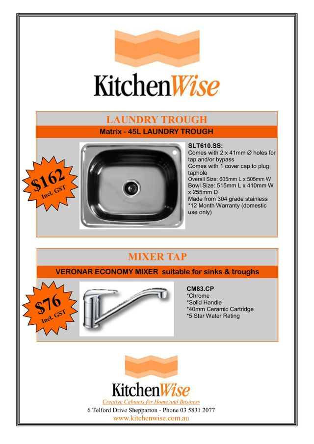 kitchen wise sink special four two five
